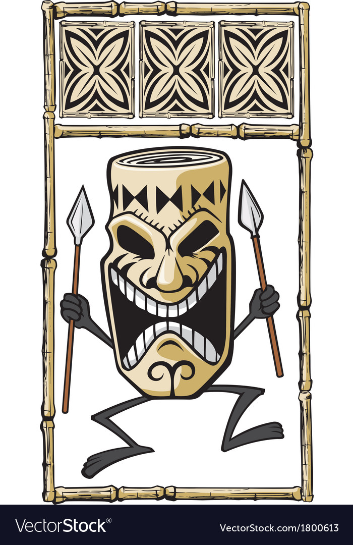 Tiki dude vector | Price: 1 Credit (USD $1)