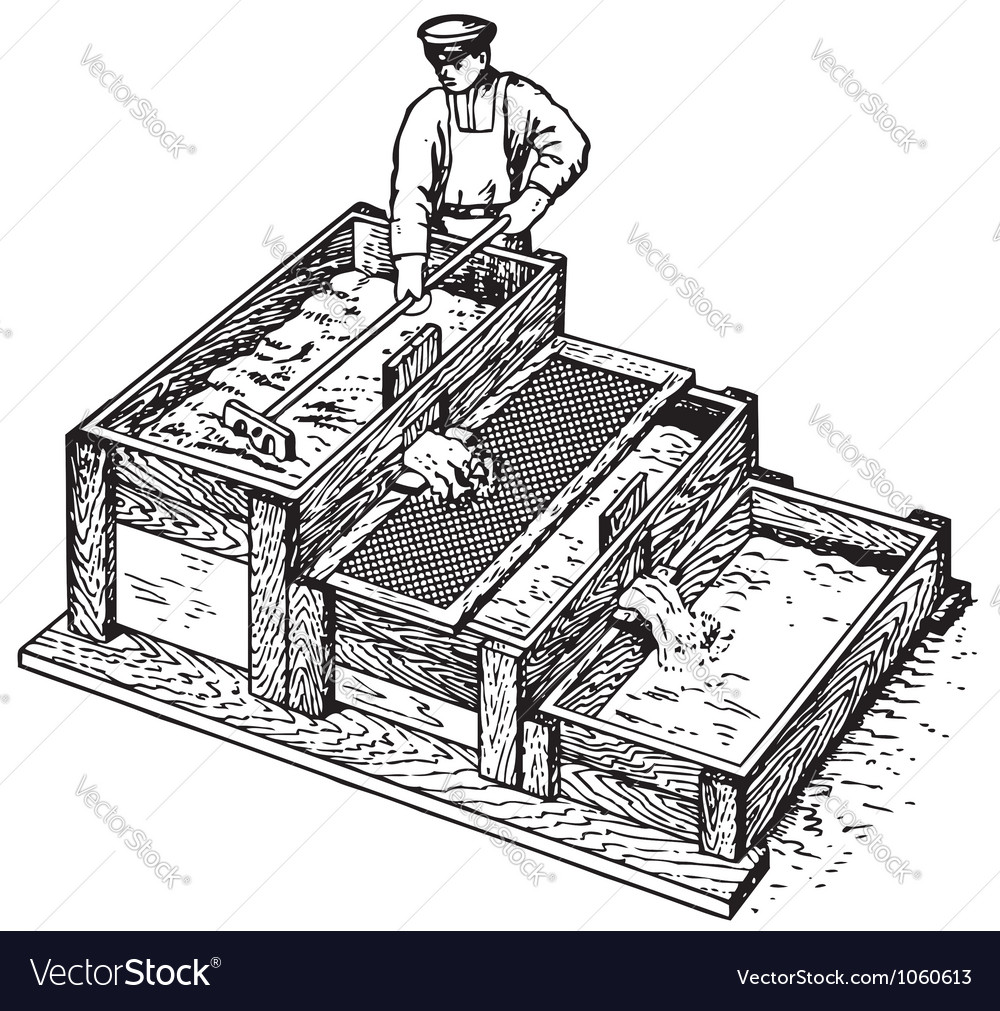 Worker preparing concrete vector | Price: 1 Credit (USD $1)