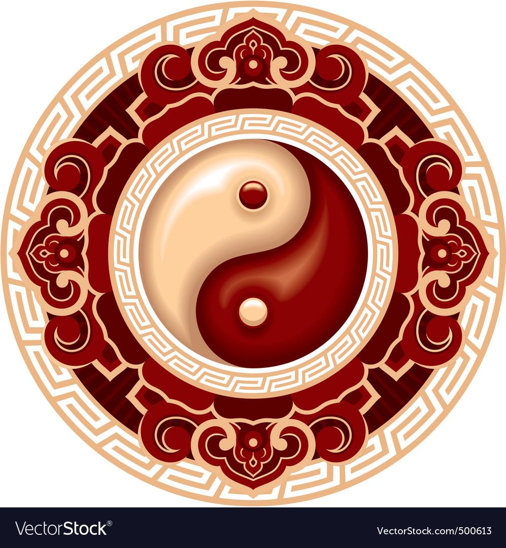 Yang yang symbol rosette vector | Price: 3 Credit (USD $3)