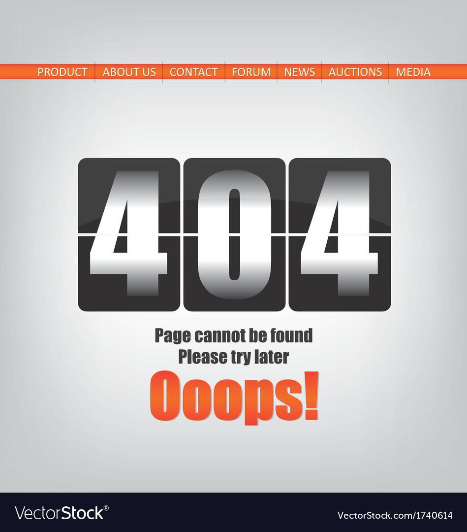 404 error page vector   Price: 1 Credit (USD $1)