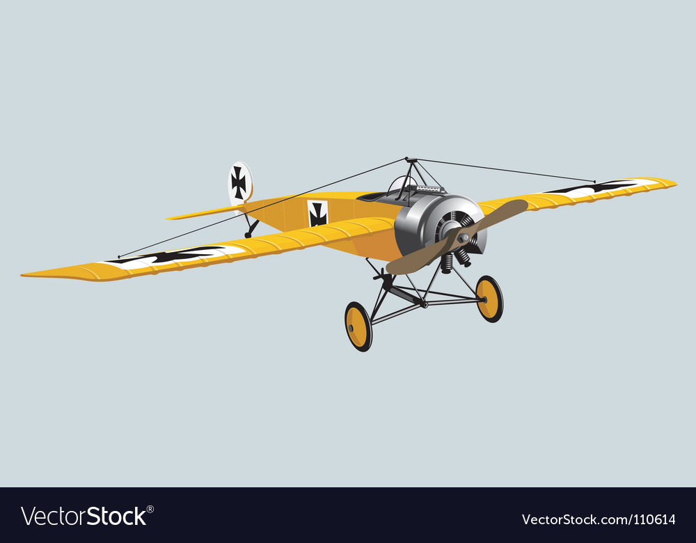 Aeroplane wwi vector | Price: 3 Credit (USD $3)