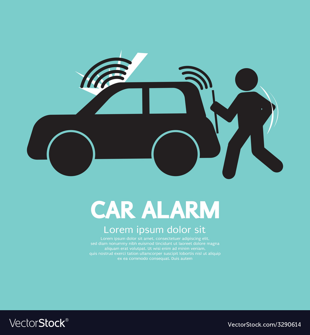 Car alarm piracy prevention symbol vector | Price: 1 Credit (USD $1)