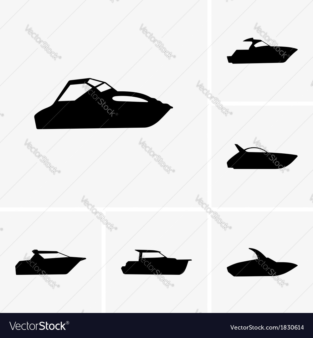 Cutter boat vector | Price: 1 Credit (USD $1)