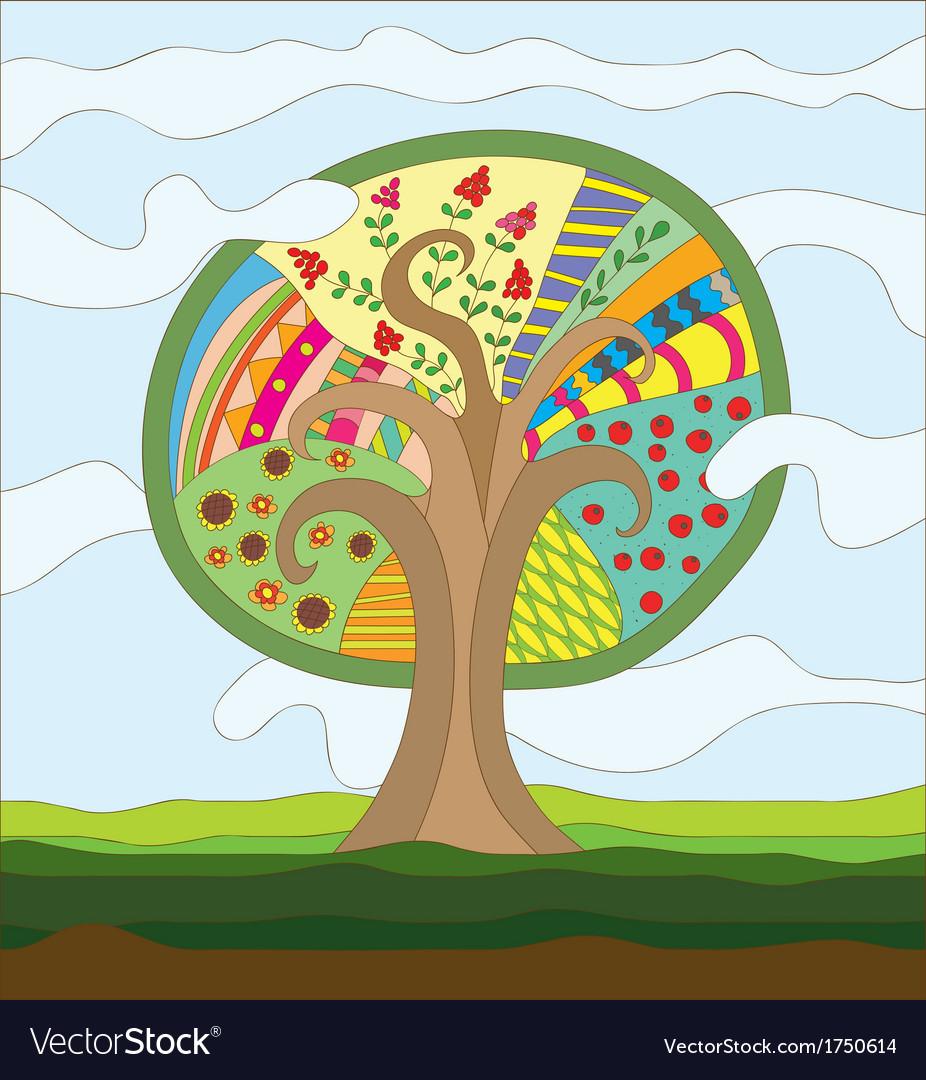 Fairy tree vector | Price: 1 Credit (USD $1)
