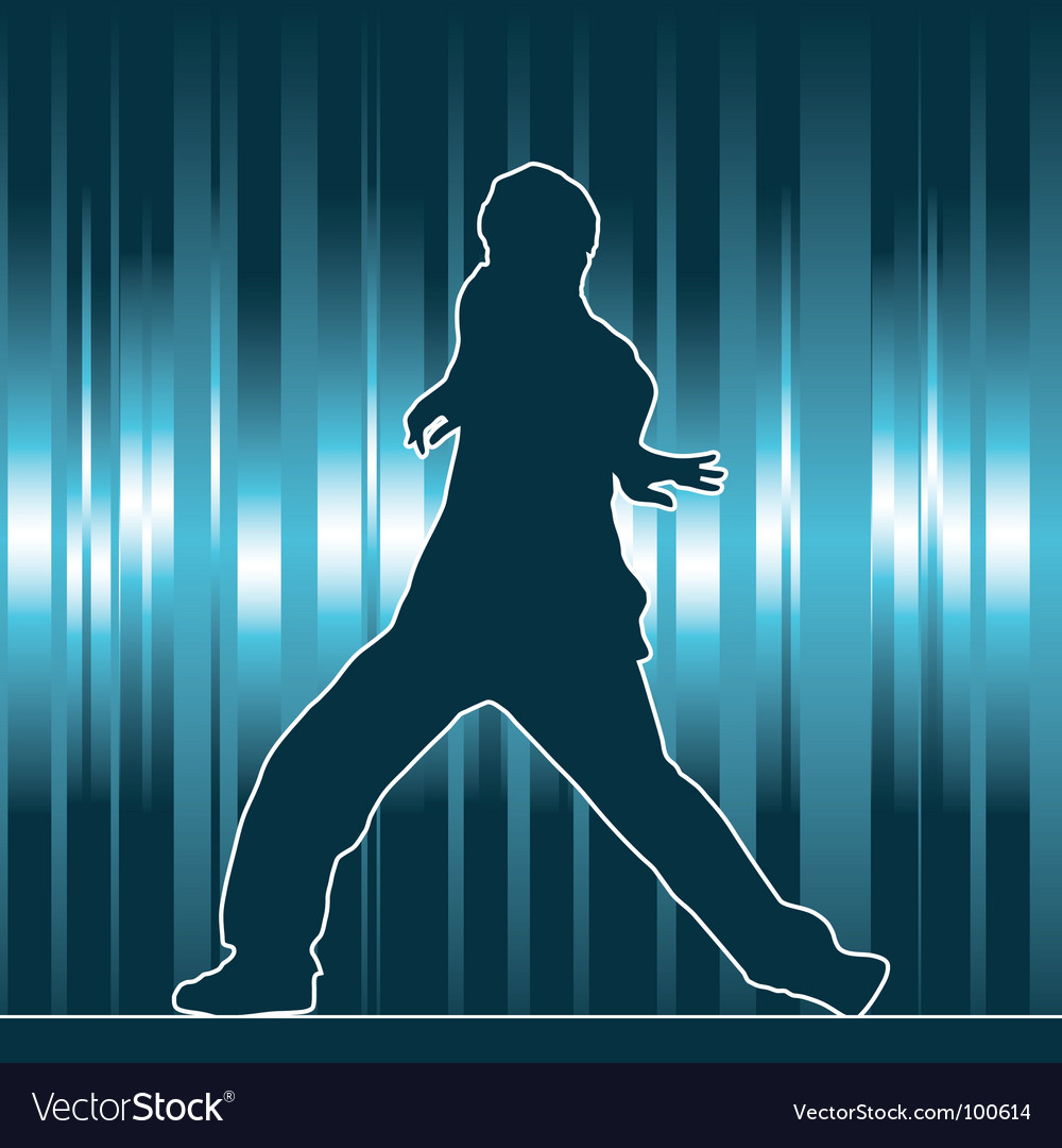Hip-hop dancing silhouette vector | Price: 1 Credit (USD $1)