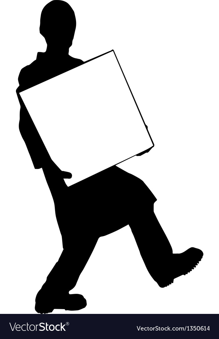 Moving guy silhouette vector | Price: 1 Credit (USD $1)