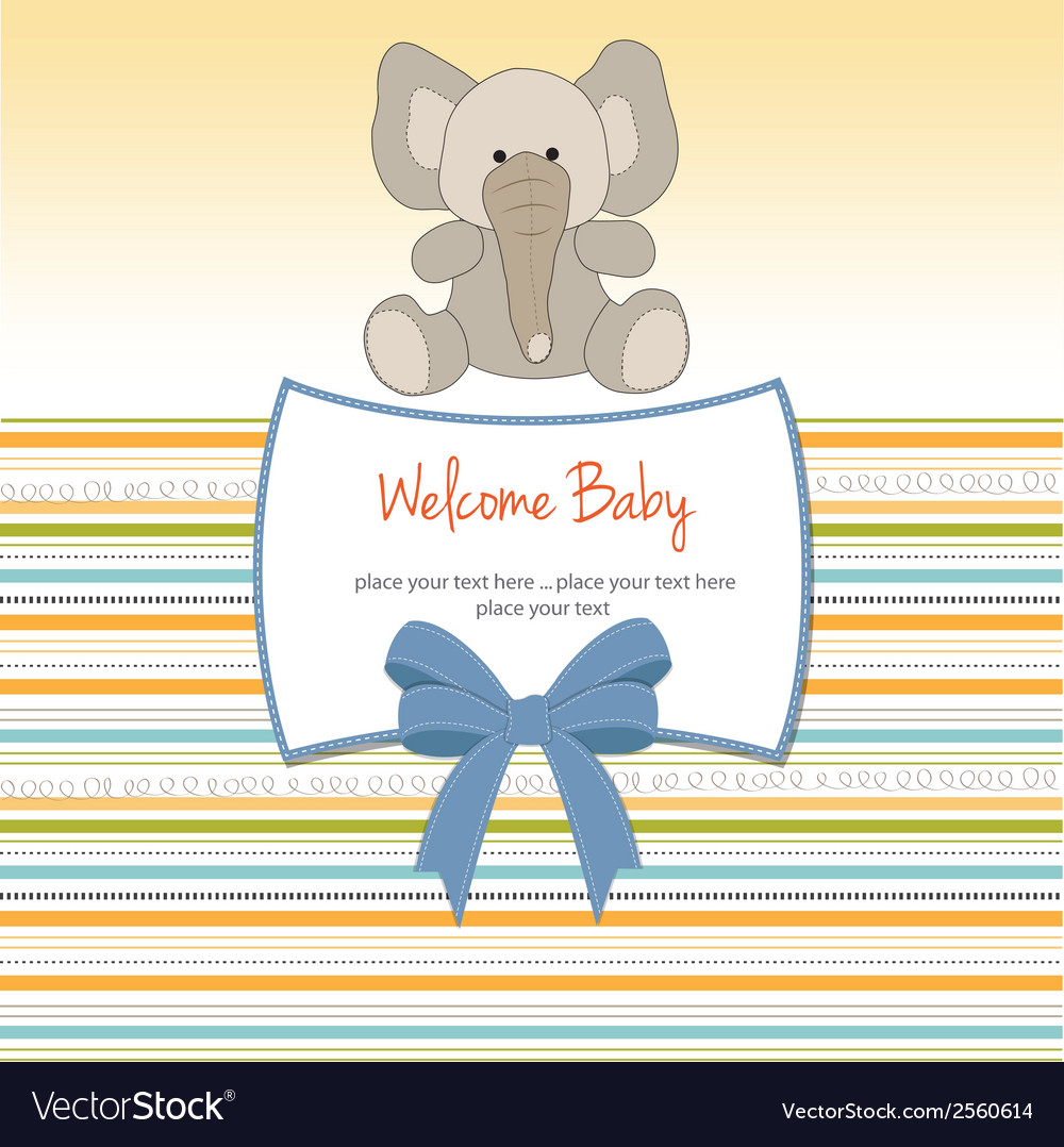New baby arrived card vector | Price: 1 Credit (USD $1)