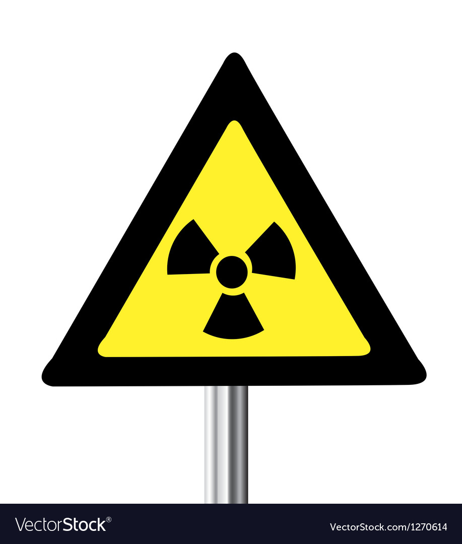 Nuclear warning sign vector | Price: 1 Credit (USD $1)