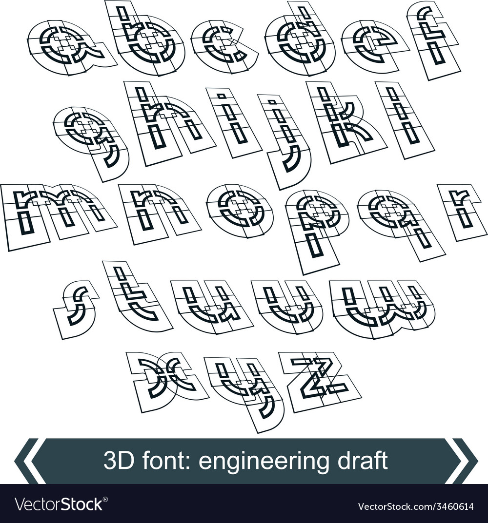 Rotated constructor dimensional script geometric vector | Price: 1 Credit (USD $1)