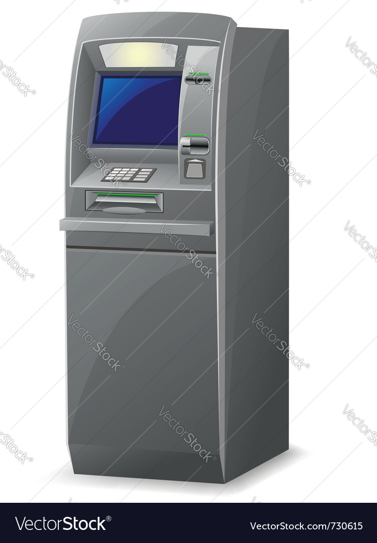 Atm isolated on white background vector | Price: 3 Credit (USD $3)