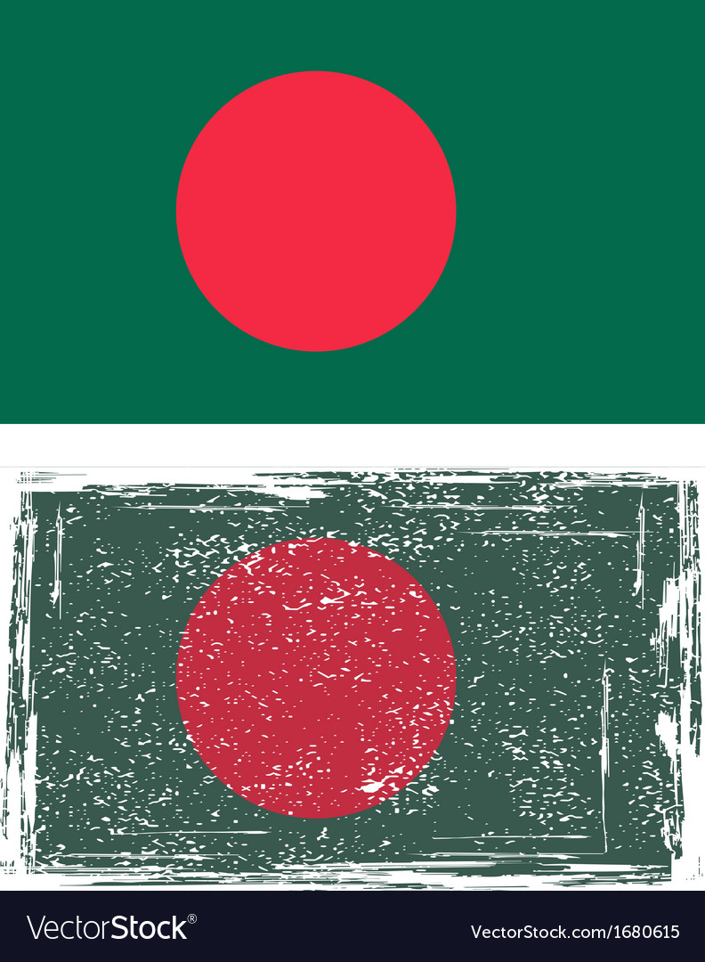Bangladeshi grunge flag vector | Price: 1 Credit (USD $1)