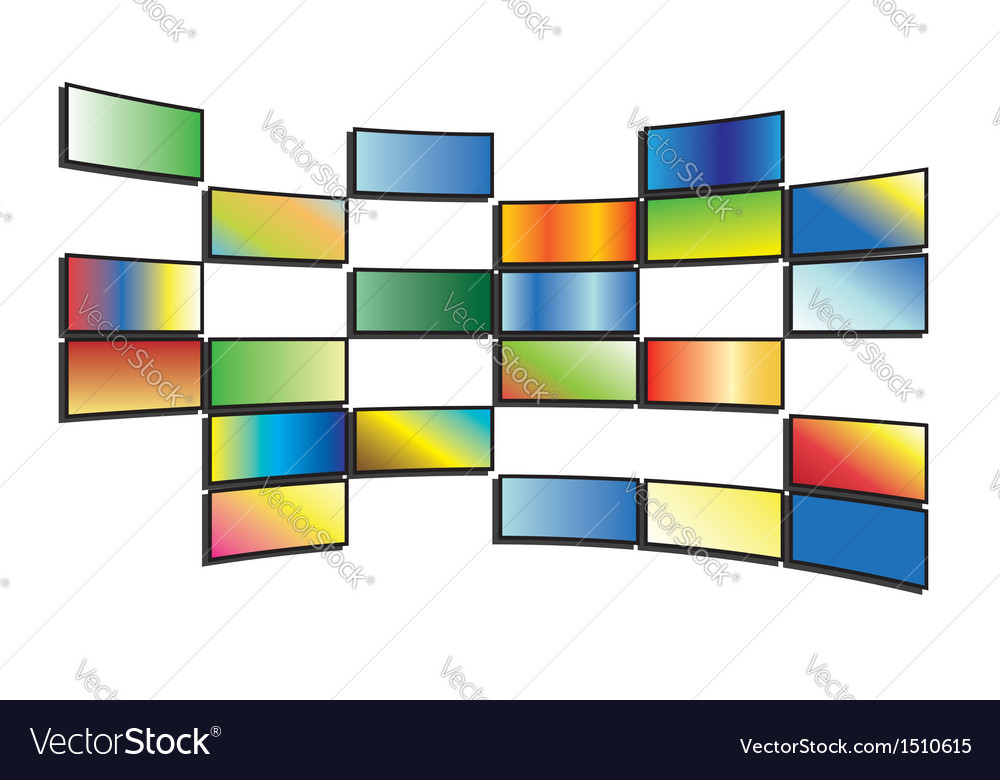 Color tv screens vector | Price: 1 Credit (USD $1)