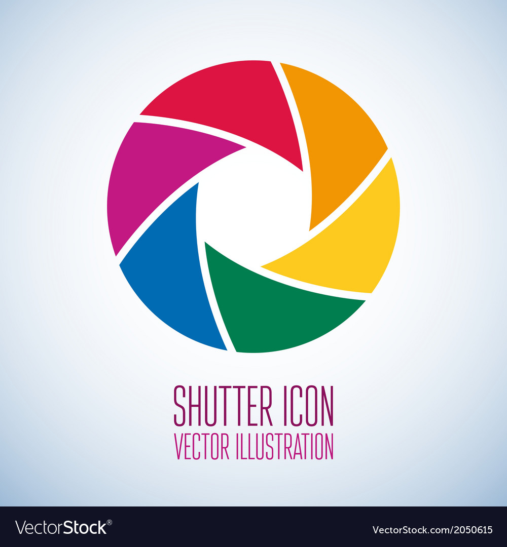 Colorful camera shutter vector | Price: 1 Credit (USD $1)