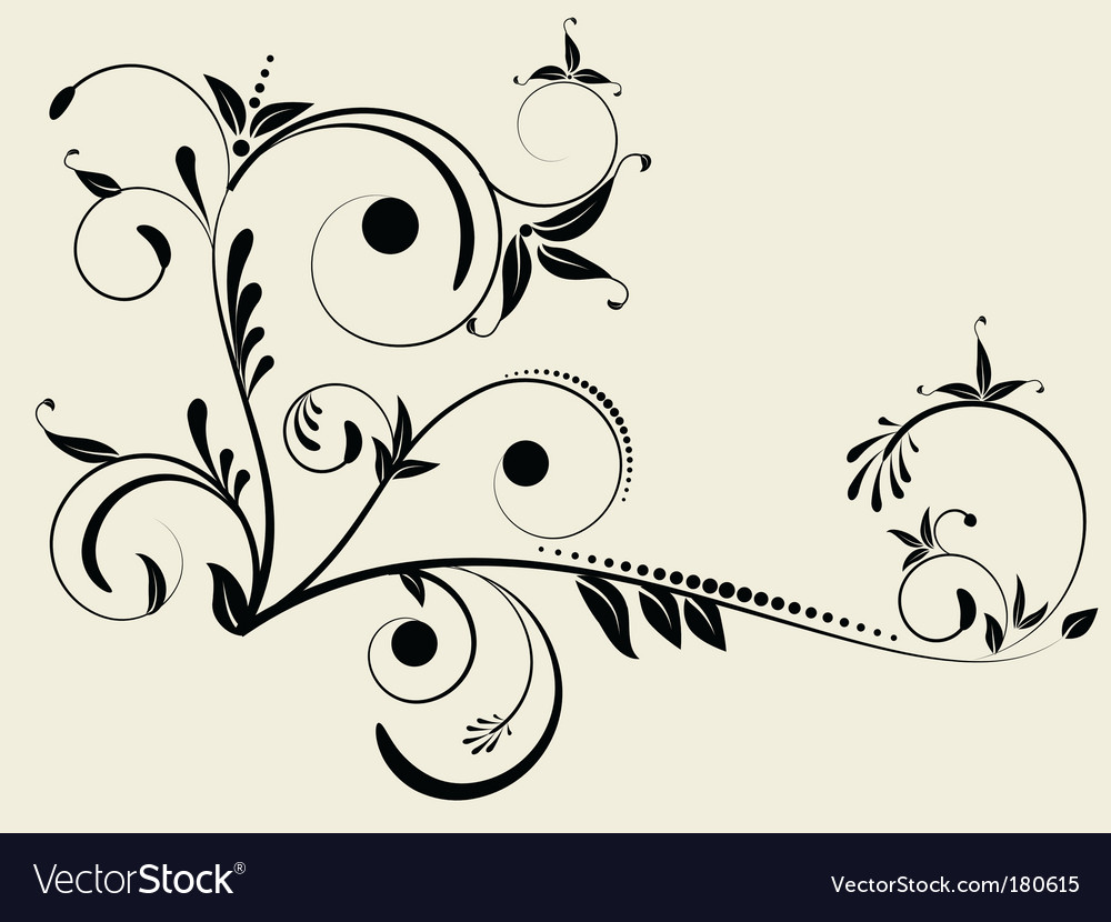 Flower monogram vector | Price: 1 Credit (USD $1)