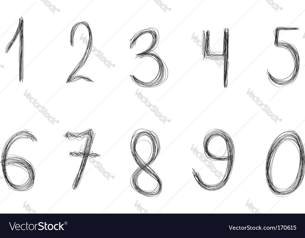 Graphic elements numbers vector | Price: 1 Credit (USD $1)