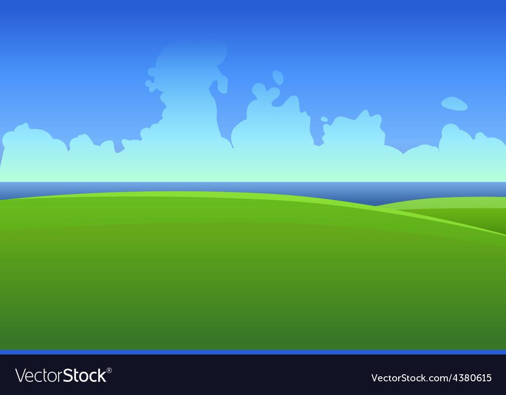 Green meadows in ireland vector | Price: 1 Credit (USD $1)