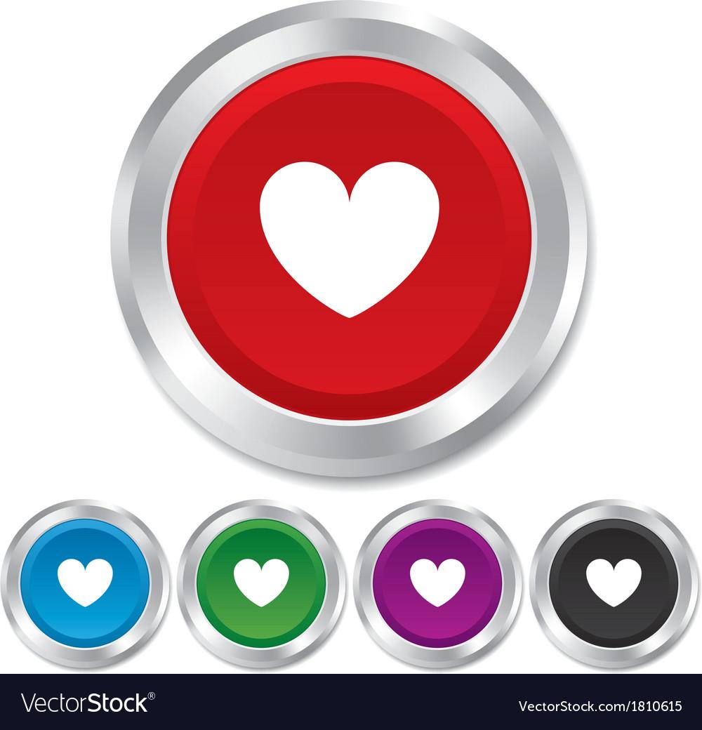 Heart sign icon love symbol vector | Price: 1 Credit (USD $1)