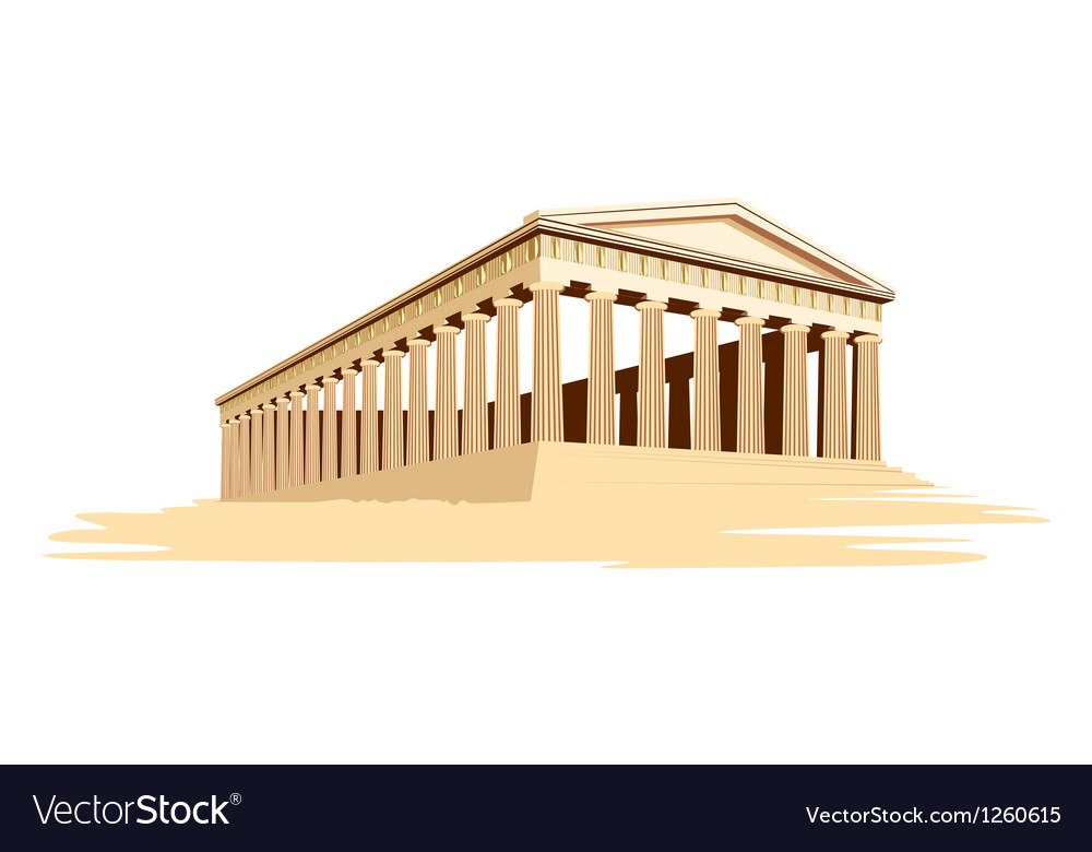 Old majestic temple vector | Price: 1 Credit (USD $1)