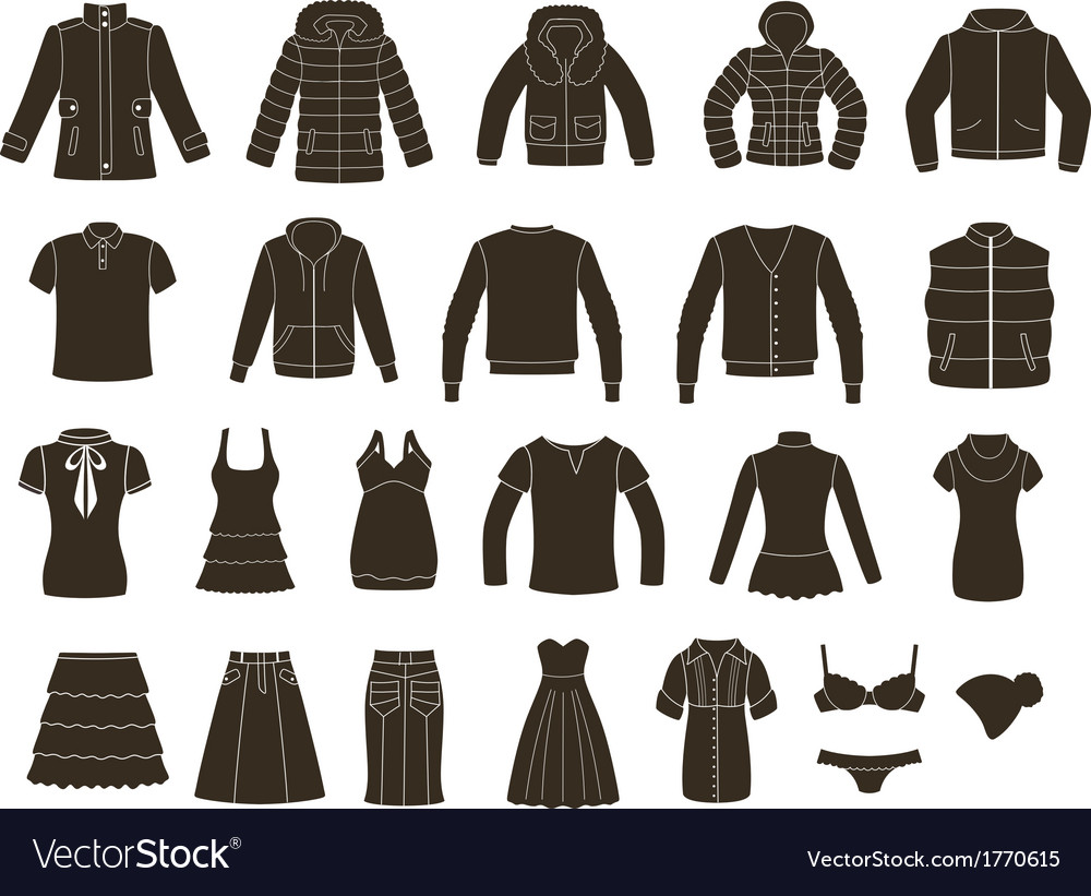 Set of women s and men s clothing vector | Price: 1 Credit (USD $1)