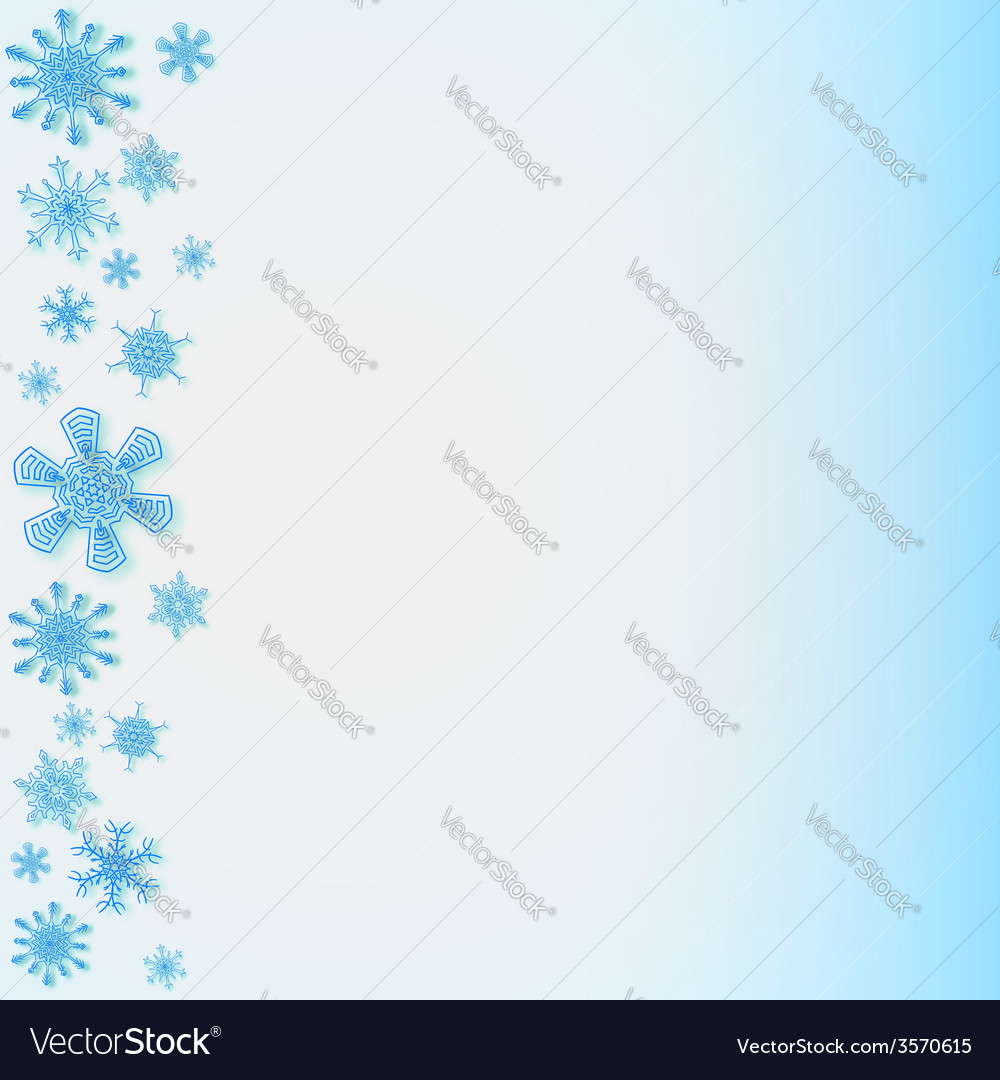 Snowflakes on the left side vector | Price: 1 Credit (USD $1)
