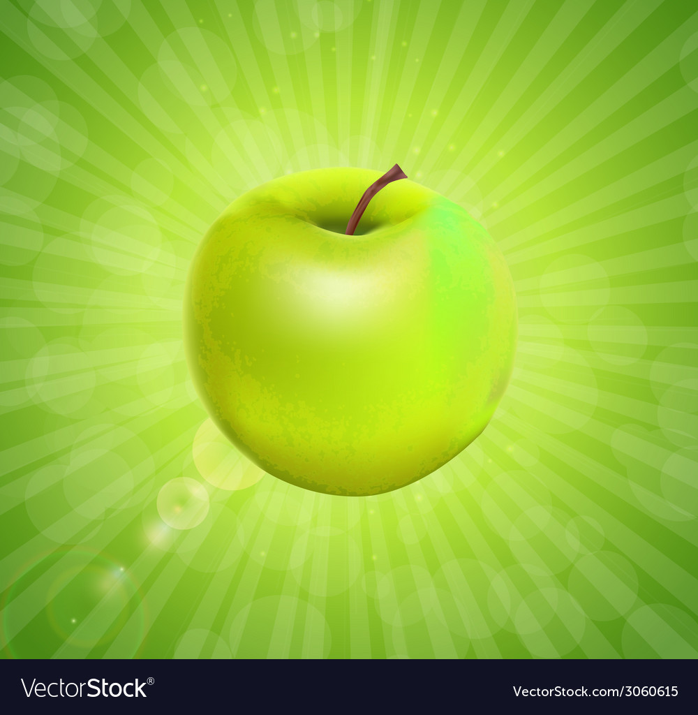 Sweet tasty apple vector | Price: 1 Credit (USD $1)