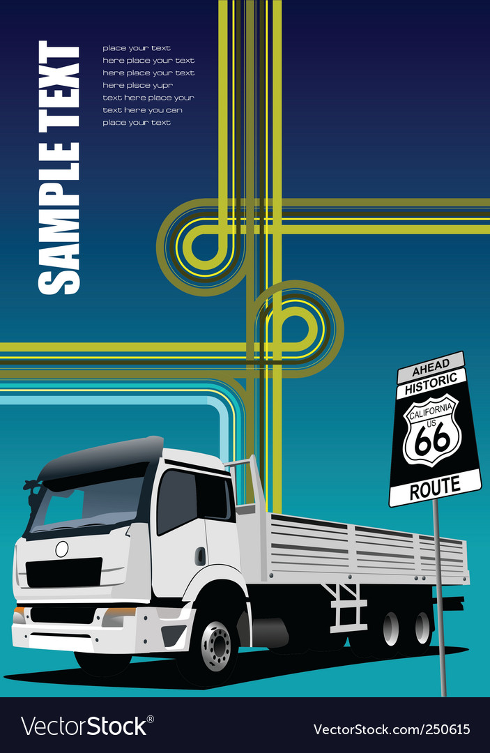 Truck and junction image vector | Price: 1 Credit (USD $1)