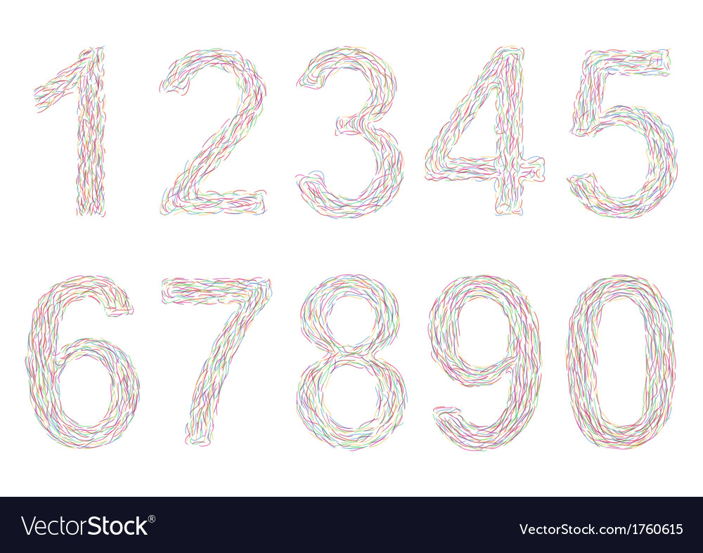Varicolored numbers vector | Price: 1 Credit (USD $1)