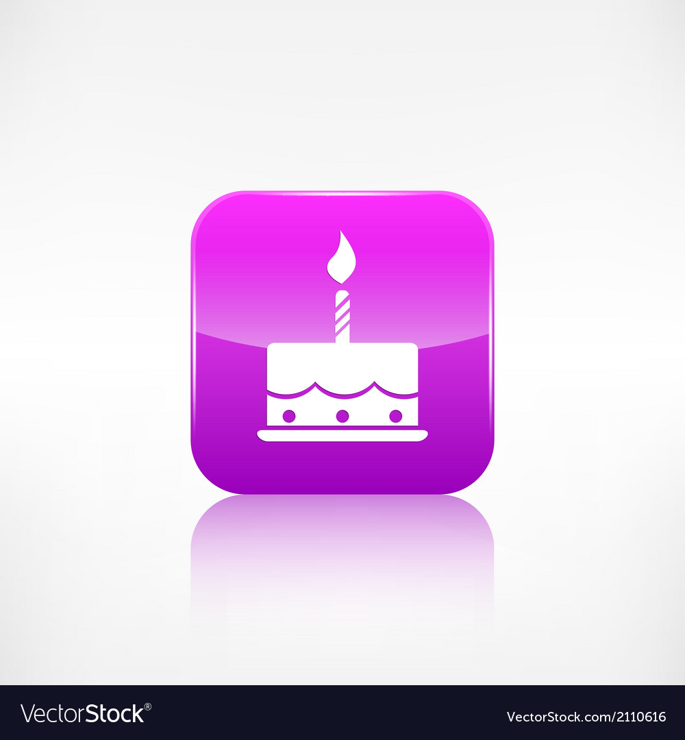 Birthday cake web icon application button vector | Price: 1 Credit (USD $1)