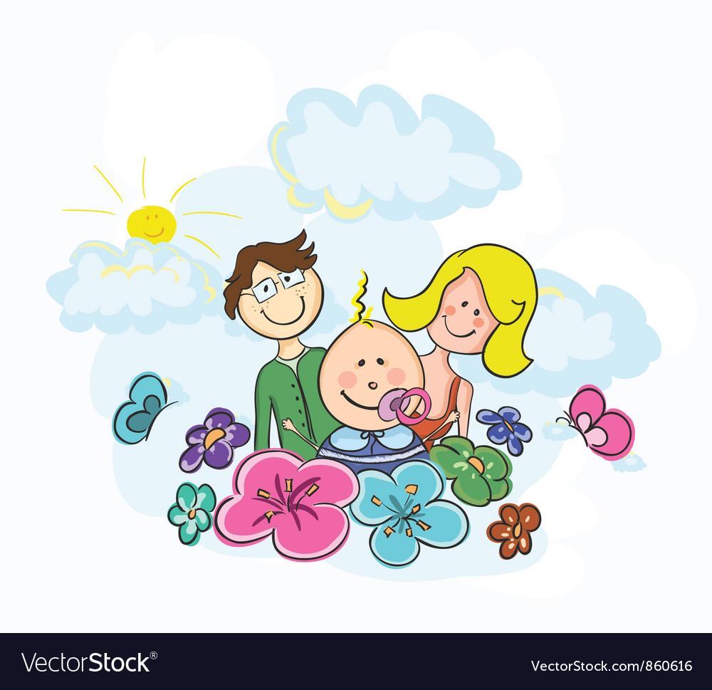 Cartoon family vector   Price: 1 Credit (USD $1)