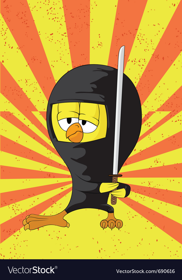 Cartoon ninja chick vector | Price: 1 Credit (USD $1)