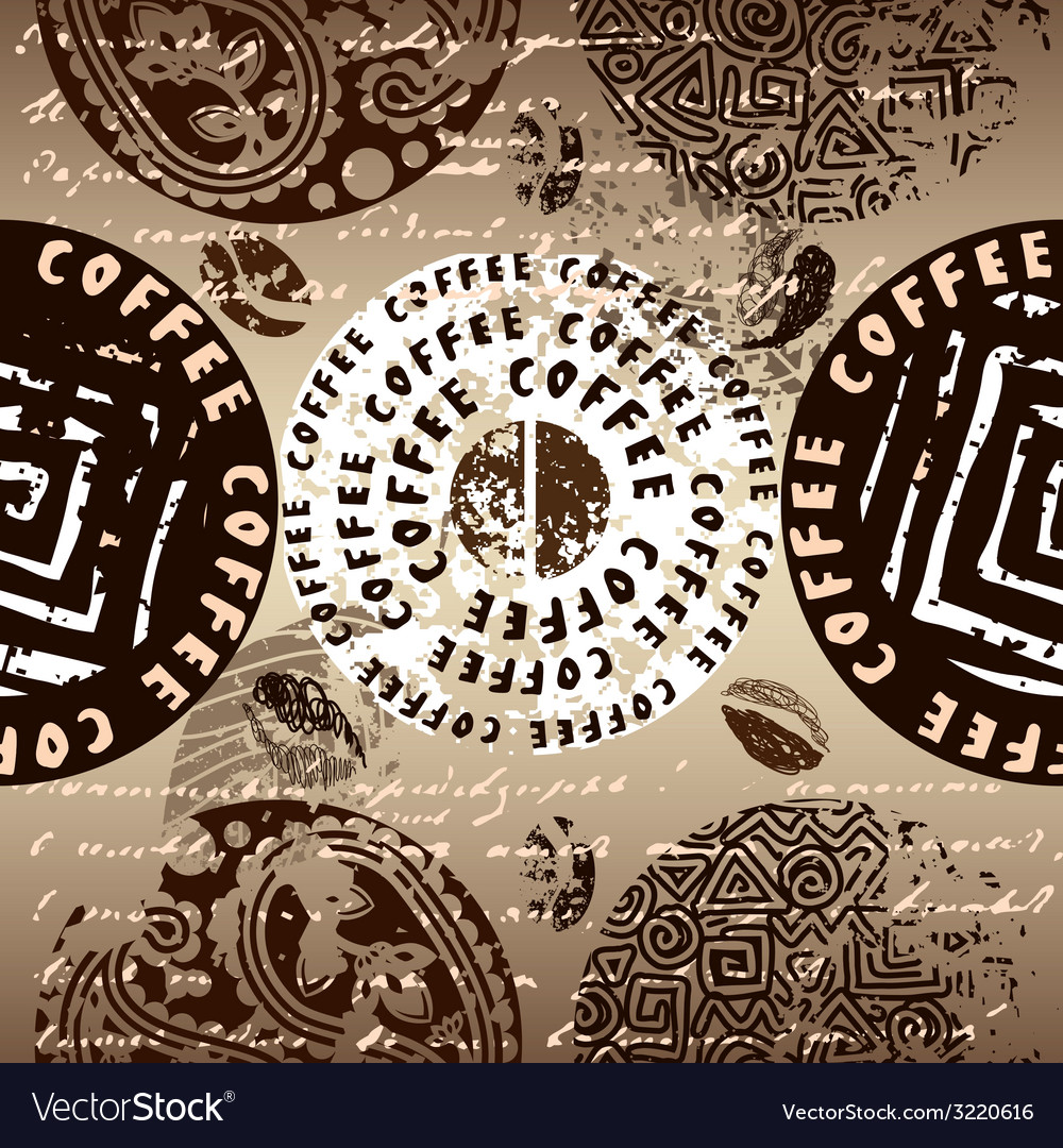 Coffee pattern vector | Price: 1 Credit (USD $1)