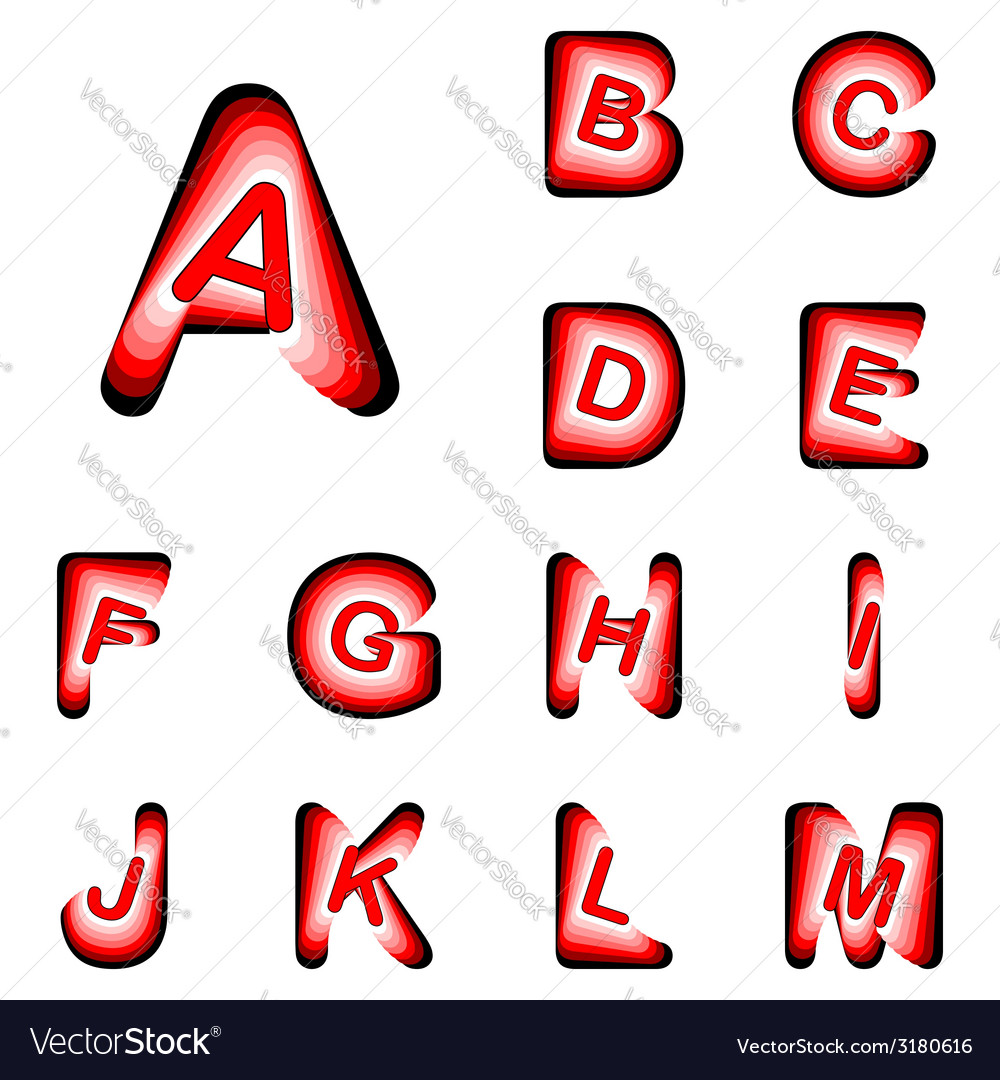 Design abc letters from a to m vector | Price: 1 Credit (USD $1)