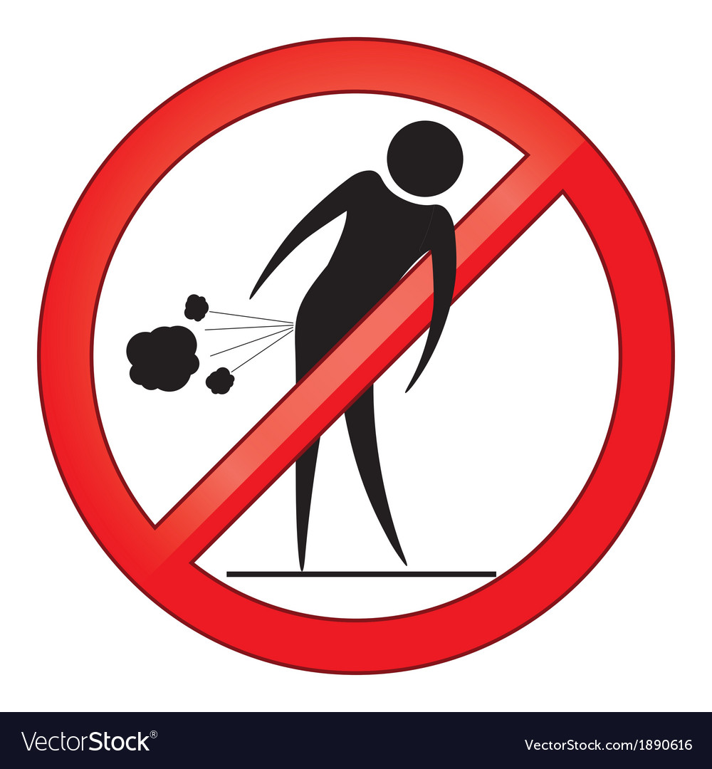 Forbid farting people sign vector | Price: 1 Credit (USD $1)