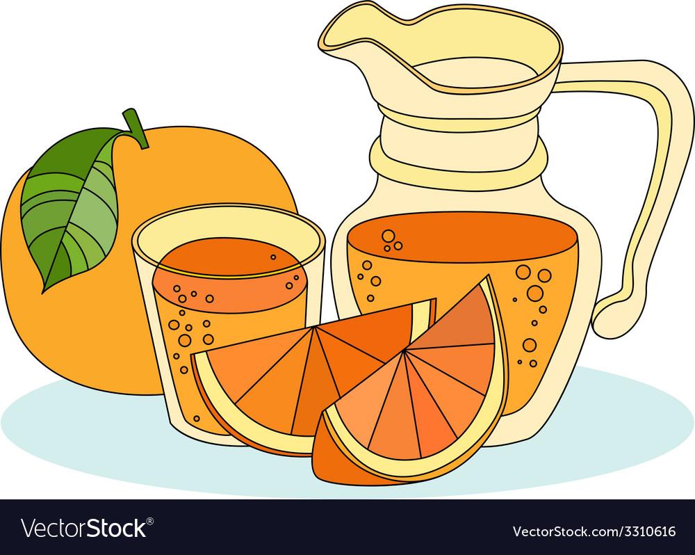 Fresh orange juice vector | Price: 1 Credit (USD $1)