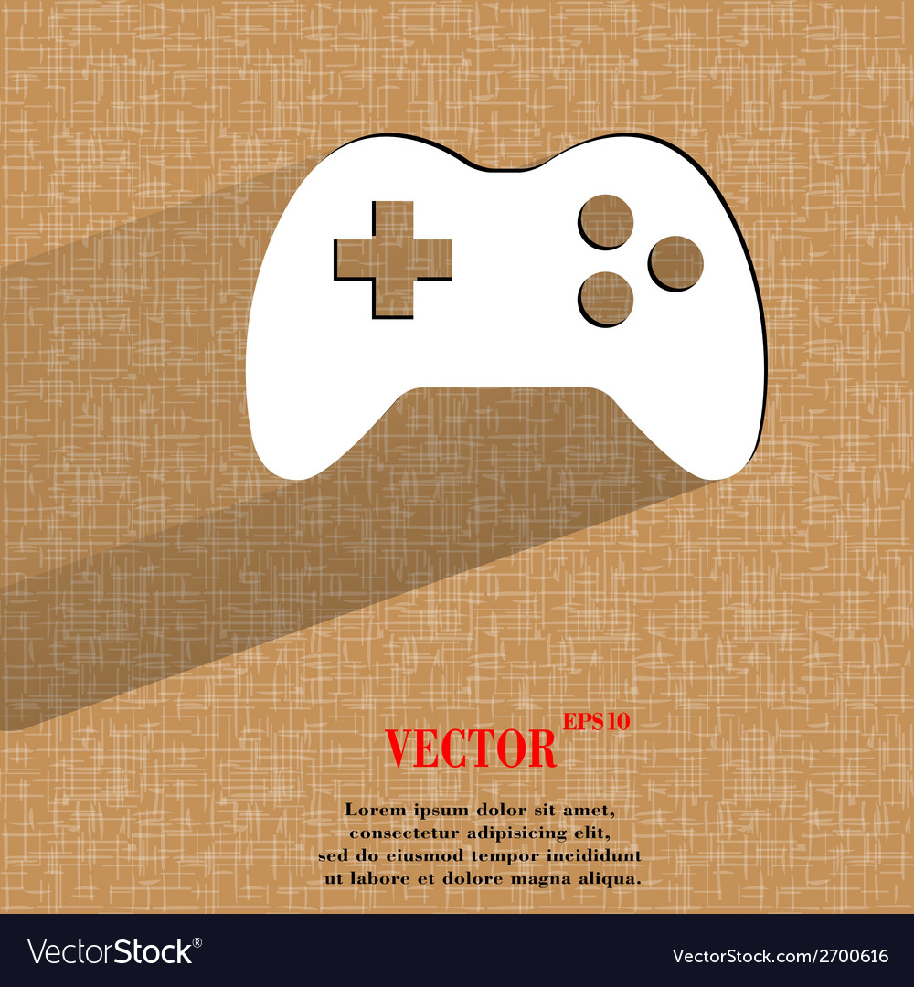 Gaming joystick flat modern web design on a flat vector | Price: 1 Credit (USD $1)