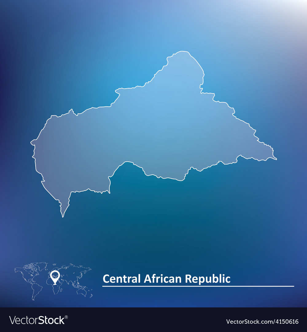Map of central african republic vector | Price: 1 Credit (USD $1)