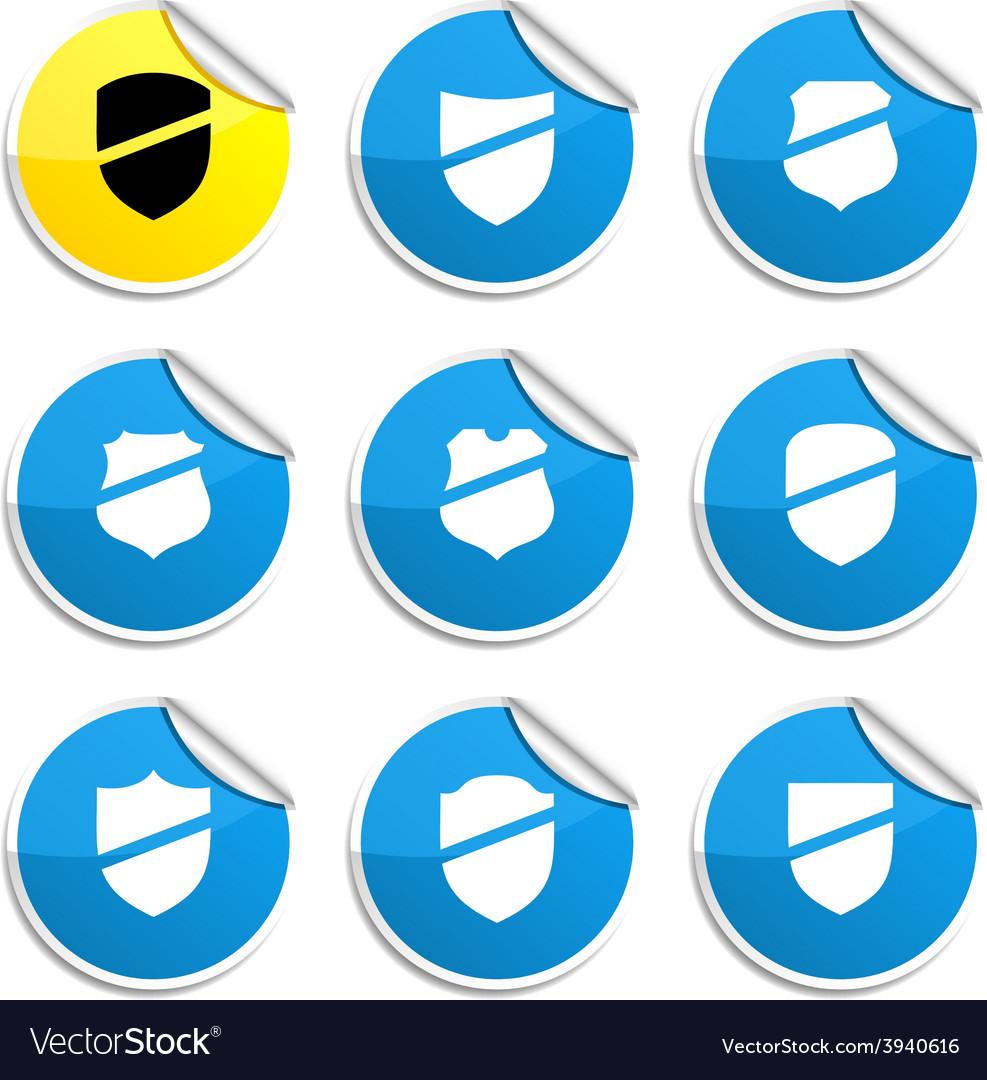 Shield stickers vector | Price: 1 Credit (USD $1)