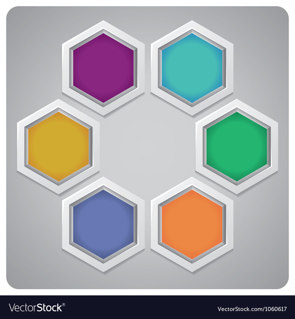 Abstract frame made from hexagons vector | Price: 1 Credit (USD $1)