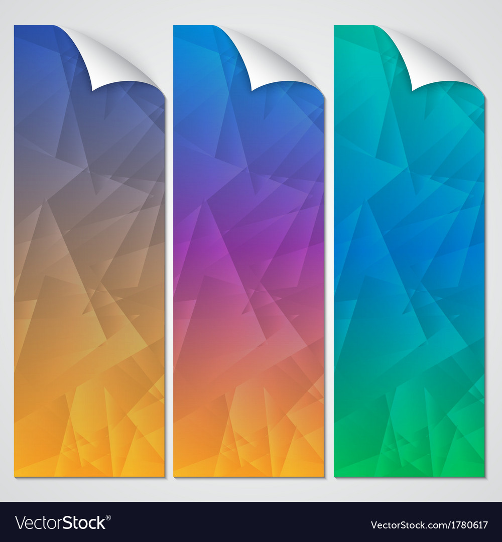 Abstract paper banner set vector | Price: 1 Credit (USD $1)