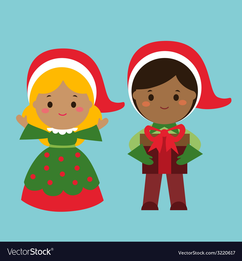 Cute holiday characters vector | Price: 1 Credit (USD $1)