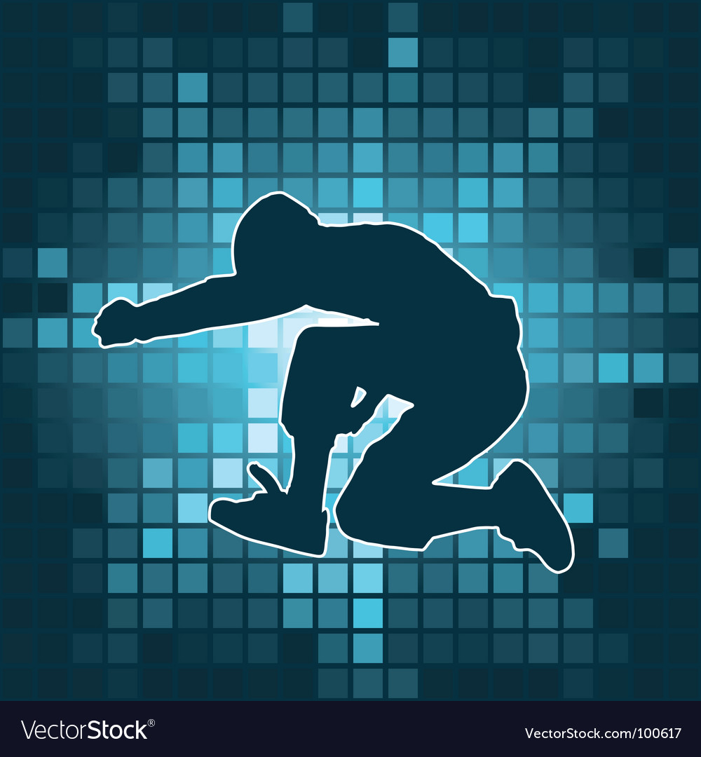 Dancing silhouette jump vector | Price: 1 Credit (USD $1)
