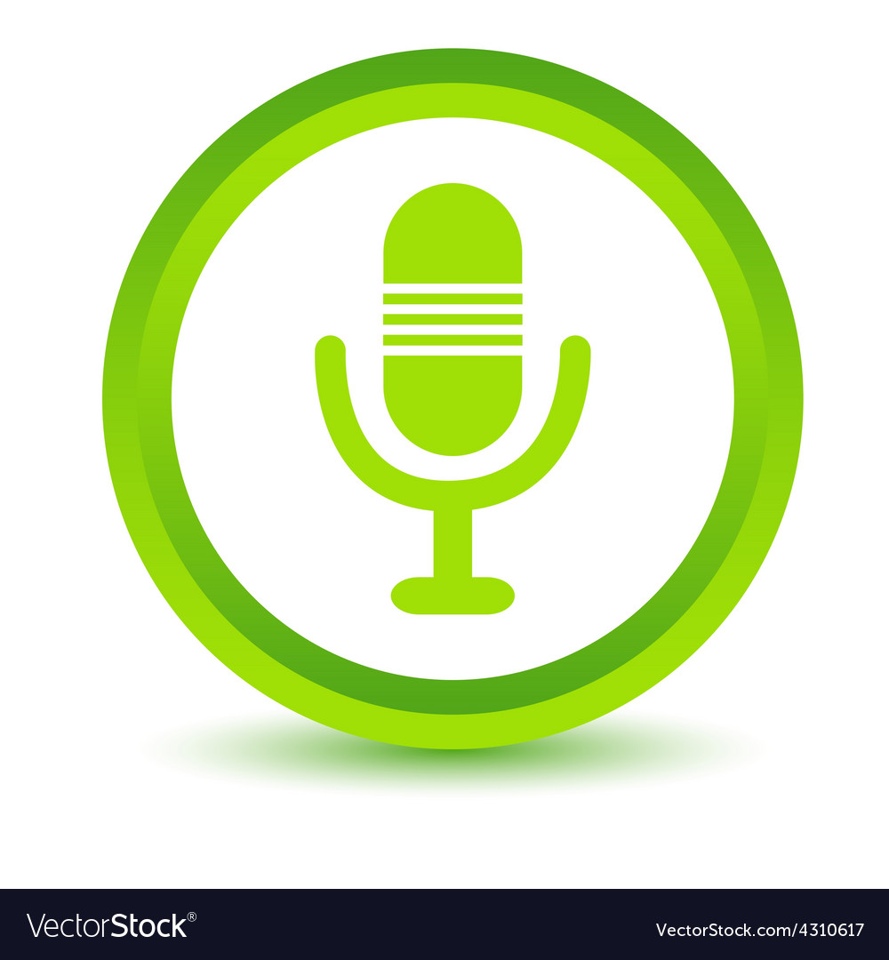 Green microphone icon vector | Price: 1 Credit (USD $1)