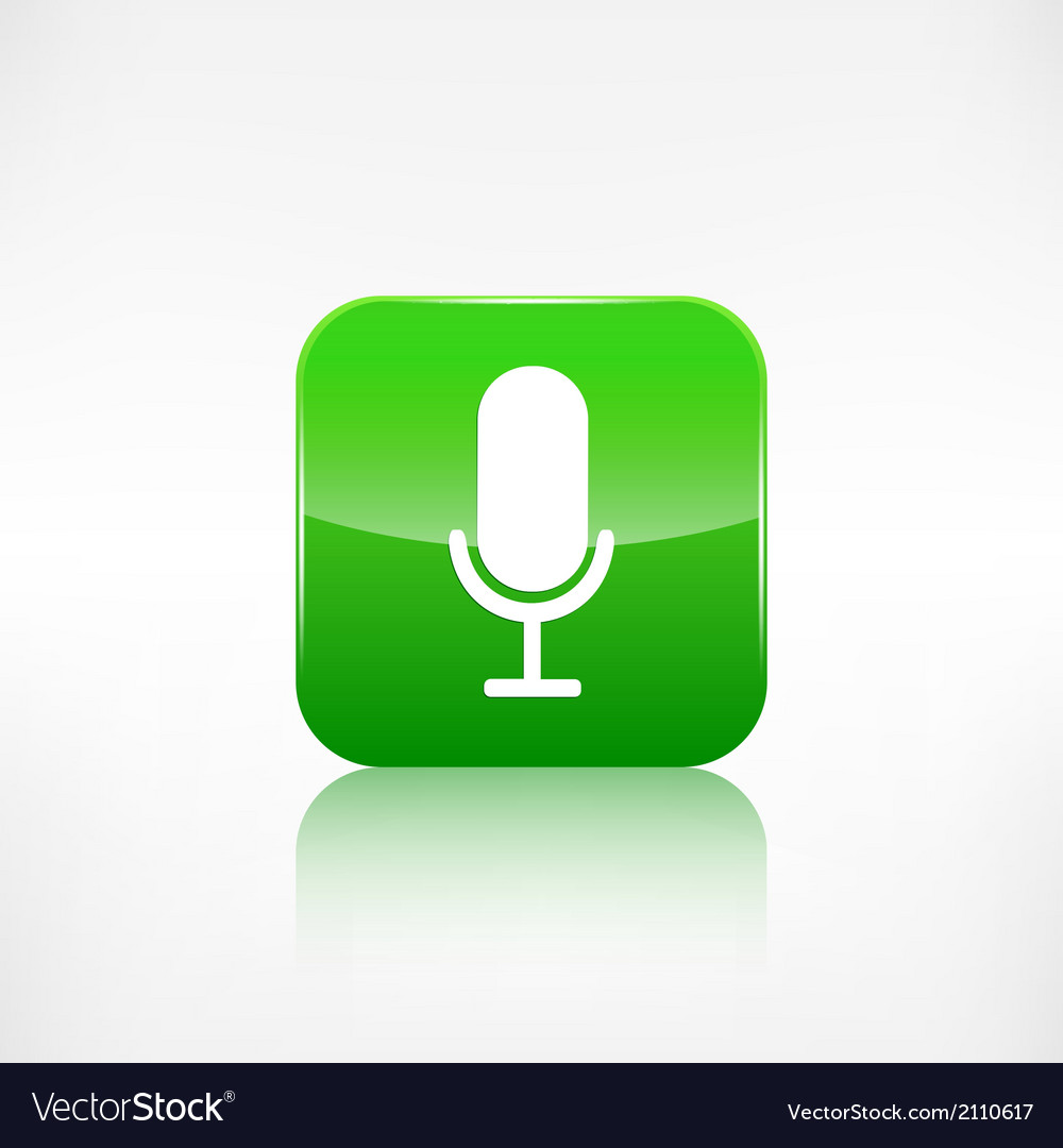 Microphone icon application button vector | Price: 1 Credit (USD $1)