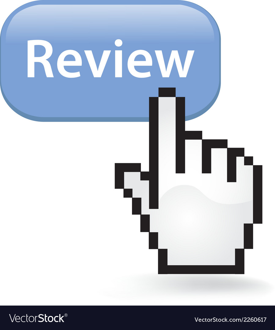 Review button vector | Price: 1 Credit (USD $1)