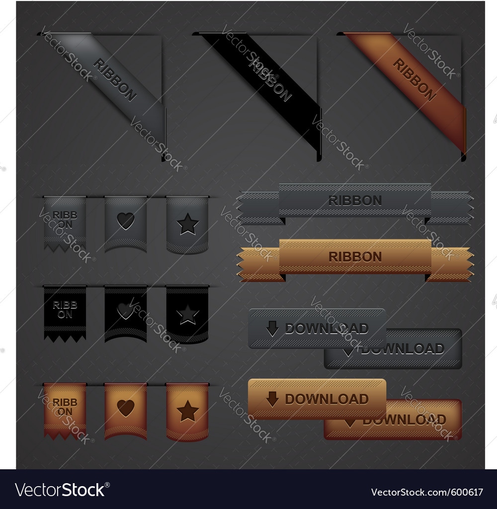 Web design elements vector | Price: 1 Credit (USD $1)