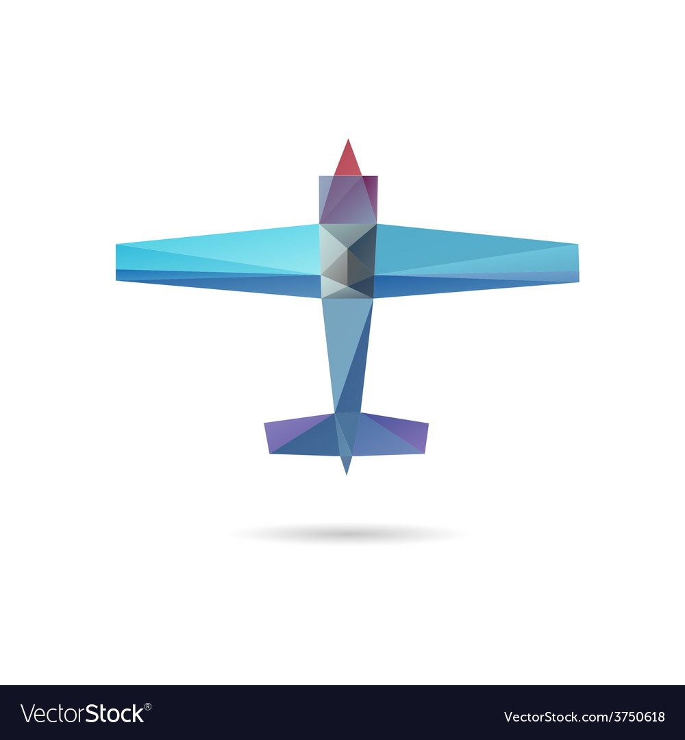 Airplane abstract isolated vector | Price: 1 Credit (USD $1)