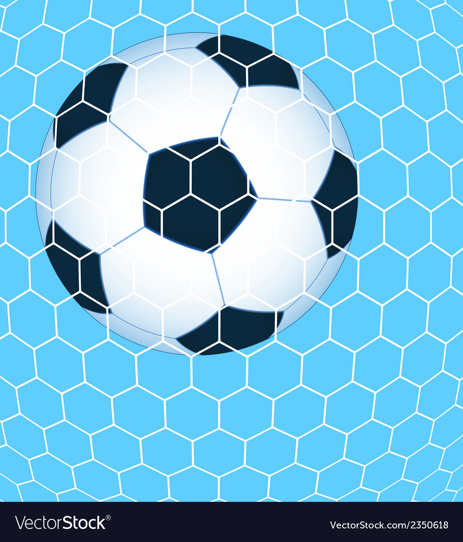 Ball in the net vector | Price: 1 Credit (USD $1)