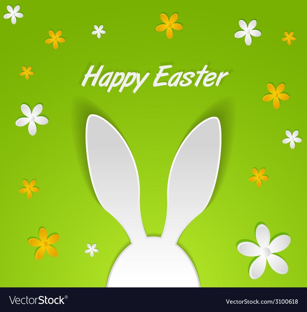 Bunny ears easter card vector | Price: 1 Credit (USD $1)