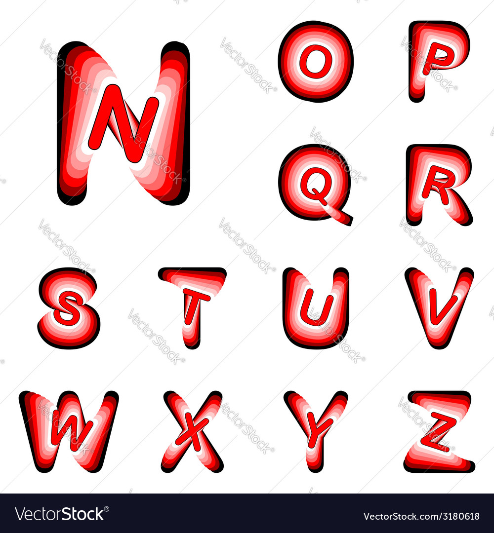 Design abc letters from n to z vector | Price: 1 Credit (USD $1)
