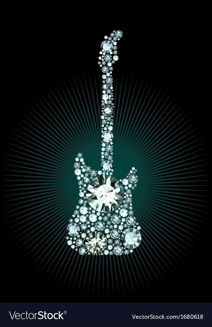 Diamond guitar vector | Price: 1 Credit (USD $1)